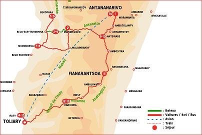 Carte circuit Madagascar Combiné