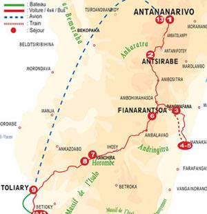 Plan du circuit Escapade - Hauts Plateaux