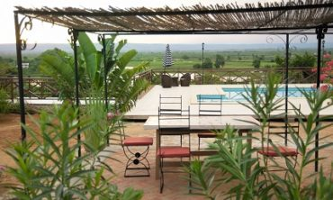 Le Patio de l'hôtel Tsiribihina
